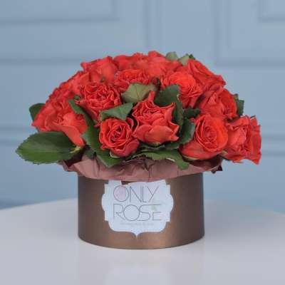 Червоні троянди 39шт. в коробці «Основний інстинкт»