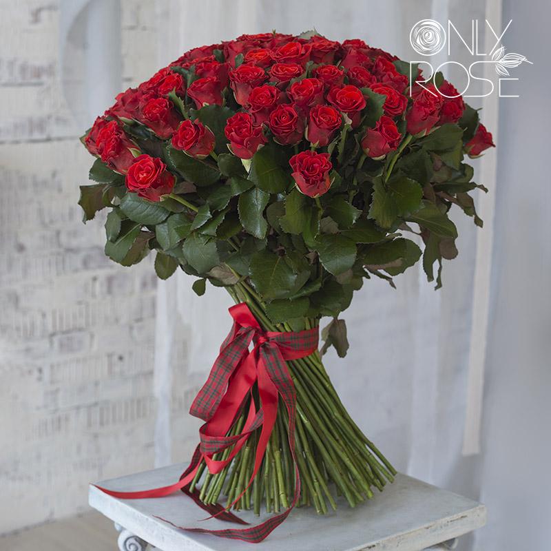 Букет зі 101-ї червоної троянди «Слова кохання»