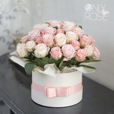 Піоноподібні троянди «Бомбастік мікс»  в коробці 19шт.
